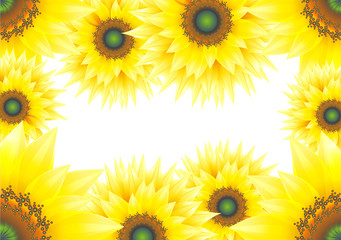 Sunflowers design with a copy space