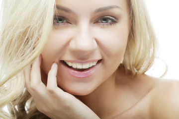 Spotless young blond woman