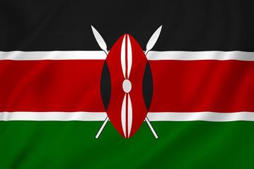 Kenya flag Wall mural