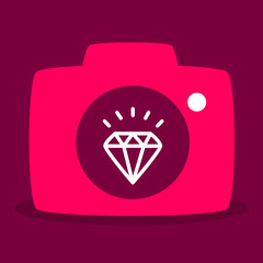reflected in the camera diamond