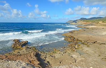 rough sea and rocks