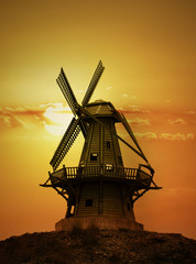 Fotobehang Molens Sundown Mill