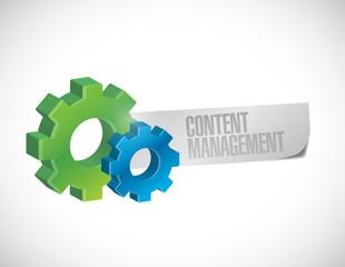 content management gear sign illustration