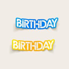 realistic design element: birthday
