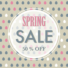 Spring or Easter sale background