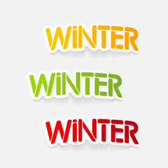 realistic design element: winter