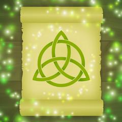 Triquetra symbol spell