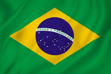 Foto auf Acrylglas Brasilien Brazil flag
