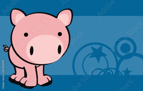 Pig Baby Cute Cartoon Wallpaper Vector