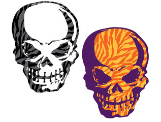 動物柄の頭蓋骨
