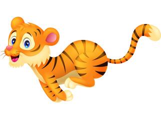 Tiger cartoon running