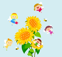 Fairies and flower
