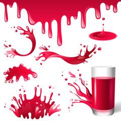 juice splashes