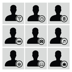 User icons,vector