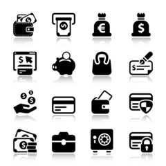 money iconset with reflex