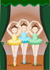 ballerine classiche su palcoscenico