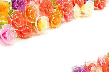Artificial handmade roses