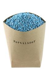 A bag full of Blue NPK compound Fertilizer