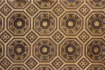 antique coffered ceiling