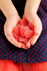 Heart shaped jelly