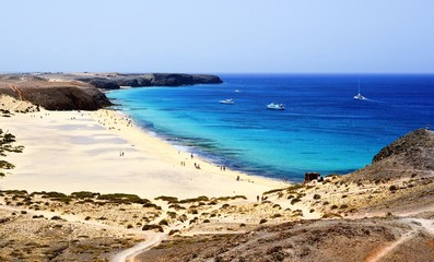 Beach on Lanzarote.