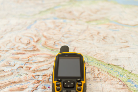 Outdoor GPS on a map.