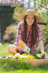 Beautiful young gardener