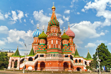 St. Basil's Cathedral, in Red Square, Moscow, Russia