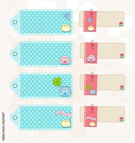 Scrapbook Tags Birds Stock Image And Royalty Free Vector Files On