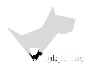 Original vector dog with shadow for various activities