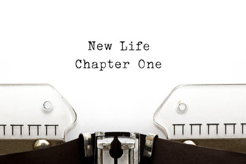 New Life Chapter One Typewriter