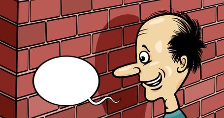 talking to a brick wall cartoon