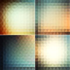 Smooth triangular backgrounds set