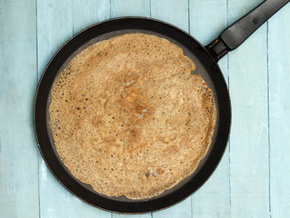 Baking Healthy Buckwheat Crepe