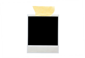 image of blank photo with sticky tape