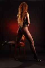redhead on knees