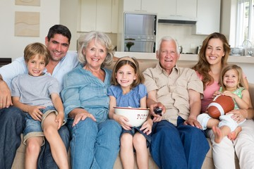 Multigeneration family spending leisure time