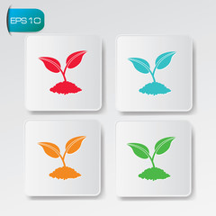 Growth buttons,vector