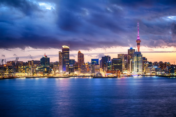Wall Murals New Zealand Auckland skyline