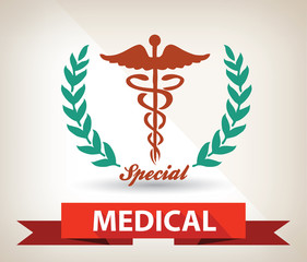 Medical badge,vector