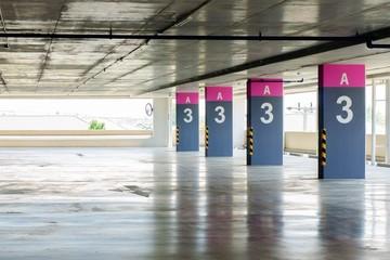 Car parking at shopping center