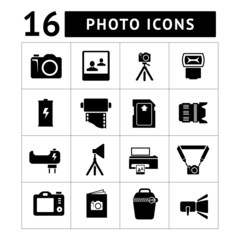 Set icons of photo