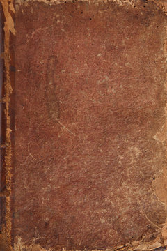 Antique leather book cover background.