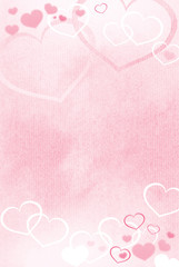 Valentine heart background with room for copy space.