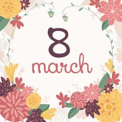 March 8 Handmade Card