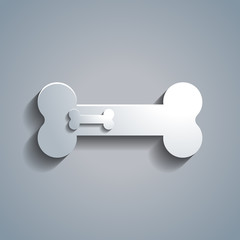 Simple white bone for dog template