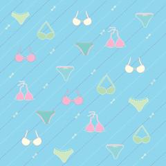 Lingerie seamless pattern Vector illustration