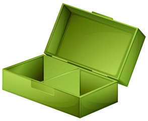 A green medical box