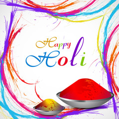 Beautiful Gulal for holi grunge colorful stylish wave background