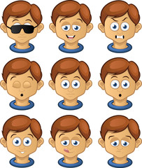 Boy expressions set